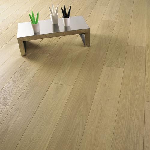 engineered parquet floor / solid / glued / oiled