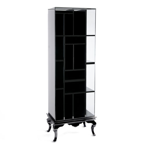 original design bookcase / mahogany / glass
