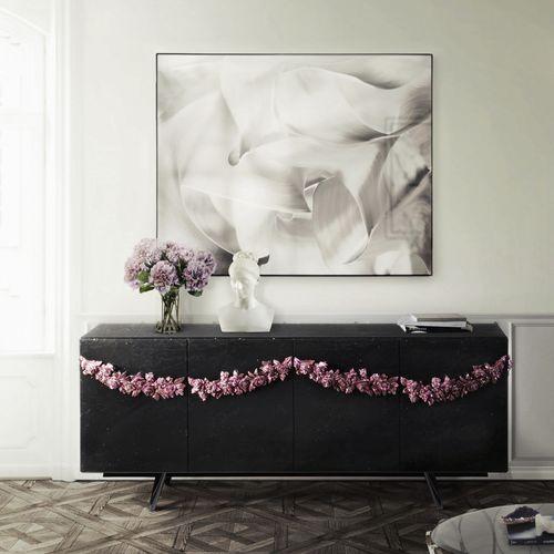 original design sideboard / mahogany / brass