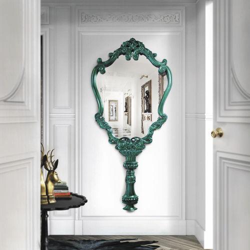 wall-mounted mirror / New Baroque design / mahogany
