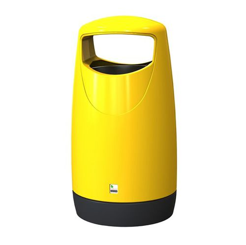 public trash can / high-density polyethylene (HDPE) / commercial / contemporary