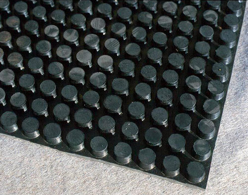 Rubber drainage membrane / drainage / for high-load surfaces / for flat roofs ELASTODRAIN® EL 202 ZinCo GmbH