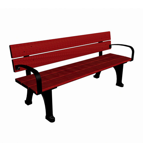 Public bench / traditional / wooden / cast iron NF2893 Lappset