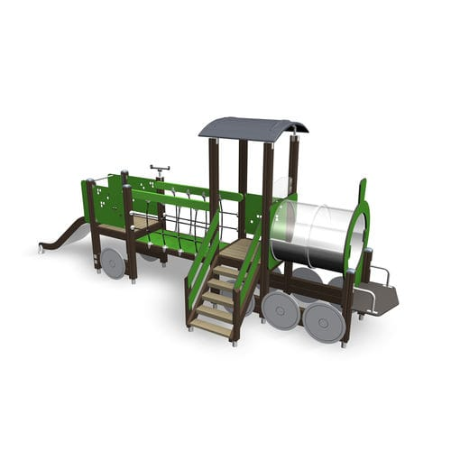 playground play structure / wooden