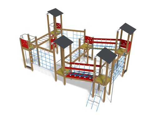 Wooden play structure / HPL / for playgrounds / modular 137300M Lappset