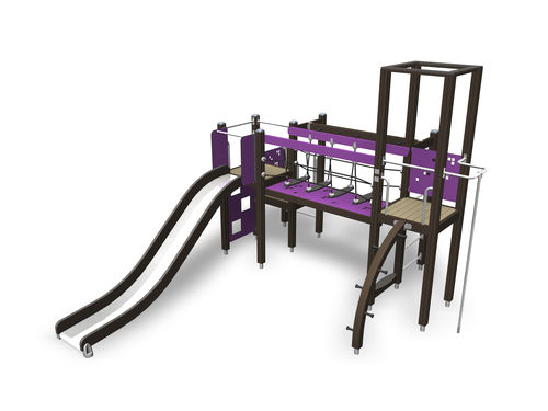 Wooden play structure / for playgrounds / modular 137105M Lappset