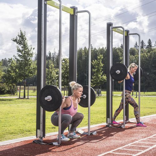 squat weight training machine / outdoor
