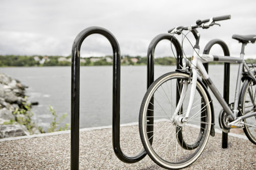 floor-mounted bike stand / steel / for public spaces