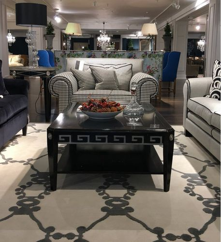 classic coffee table / lacquered wood / beech / rectangular