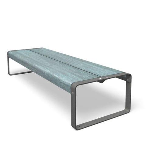 contemporary coffee table / metal / HPL / rectangular