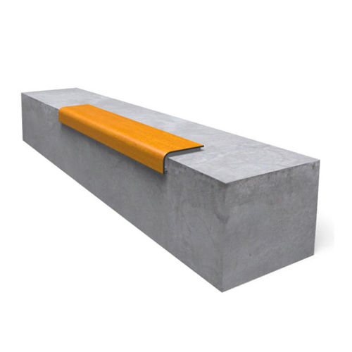 public bench / contemporary / metal / HPL