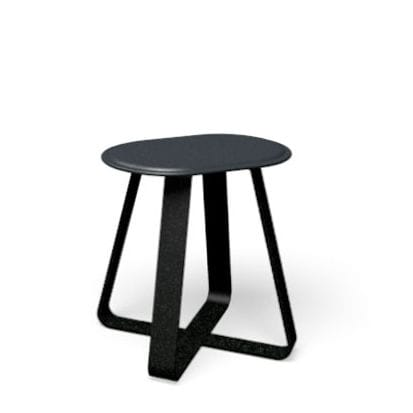 contemporary stool / metal / for public spaces / outdoor