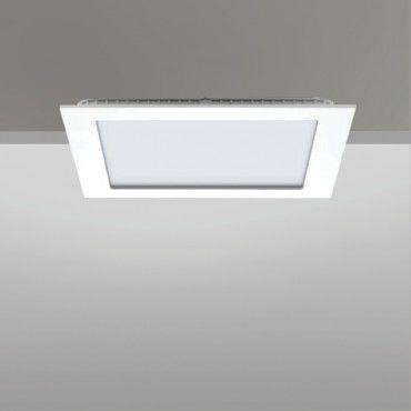 recessed downlight / LED / square / cast aluminum