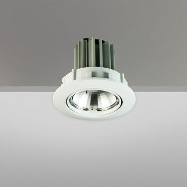 recessed downlight / LED / round / sheet steel