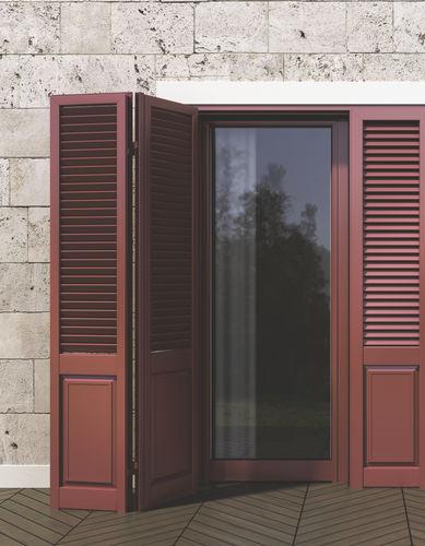 swing shutter / aluminum / door / imitation wood