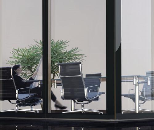 removable partition / aluminum / glazed / professional