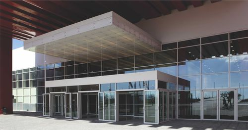 Structural glass curtain wall / aluminum and glass SMARTIA M50 ALUMIL S.A.