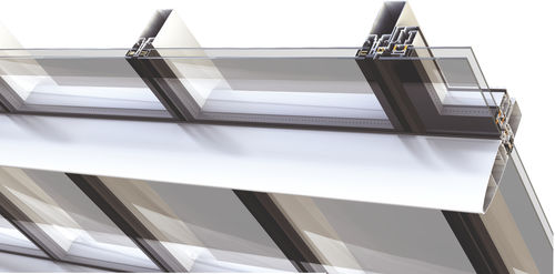 Structural glass curtain wall / aluminum and glass M6  ALUMIL S.A.