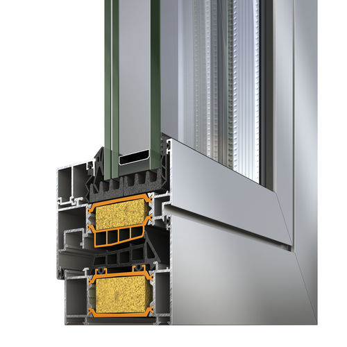 Aluminum window profile / thermally-insulated S91 – Hinged system for Passive Houses ALUMIL S.A.