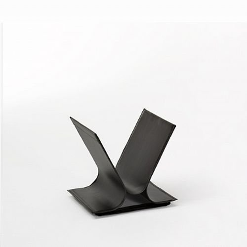 Contemporary magazine rack / residential / leather VIVO Julia