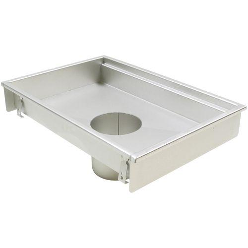 stainless steel floor drain / for kitchens / rectangular