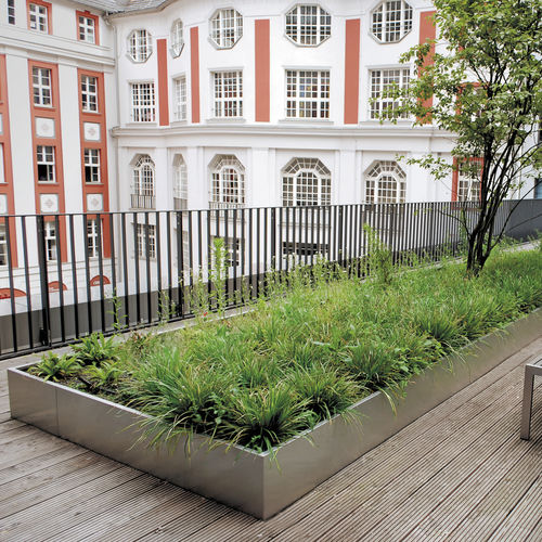 green roof edge / aluminum / linear