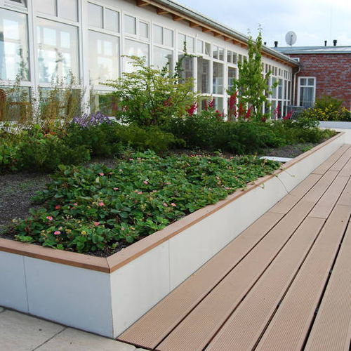 green roof edge / fiber cement / linear