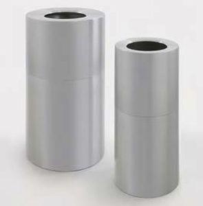 public trash can / galvanized steel / aluminum / contemporary