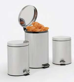 public trash can / stainless steel / ABS / contemporary