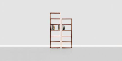 modular shelf / contemporary / solid wood / commercial
