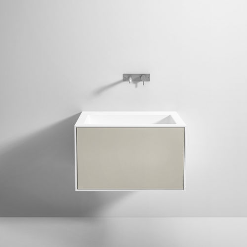 wall-hung washbasin cabinet / free-standing / Corian® / contemporary