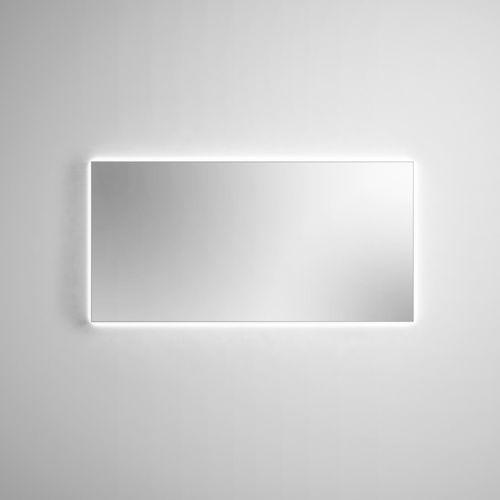 wall-mounted bathroom mirror / LED-illuminated / contemporary / rectangular