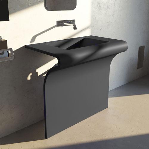 free-standing washbasin / steel / original design