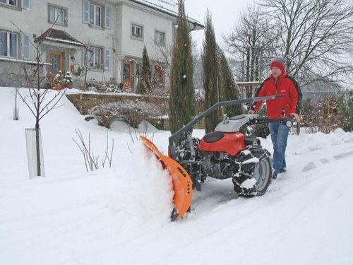walk-behind snowplow