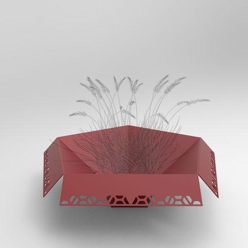 metal planter / square / rectangular / modular