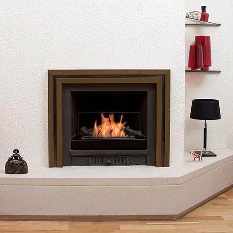 rectangular bioethanol burner / contemporary