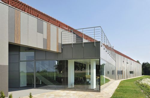 composite cladding / strip / insulated / vertical