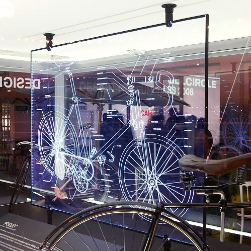 Interior fitting glass panel / decorative / laser-engraved / float by Ben Wilson Vitrics