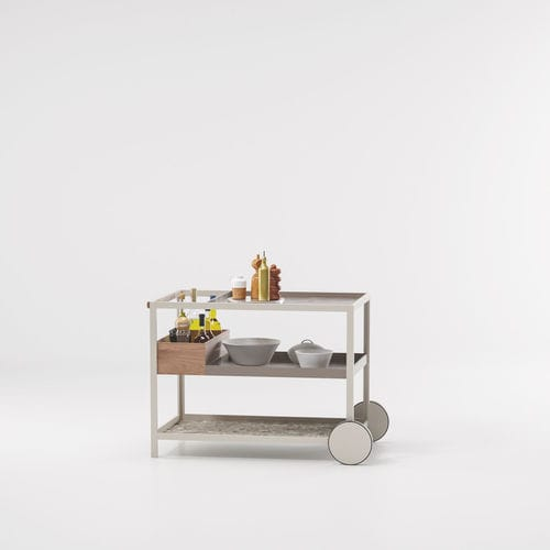 garden service trolley / for hotel rooms / home / metal