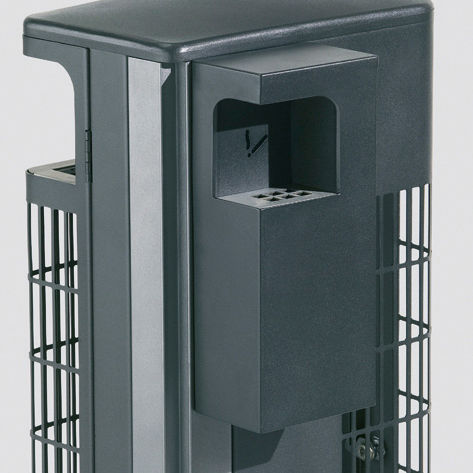 wall-mounted ashtray / steel / for outdoor use / for public spaces
