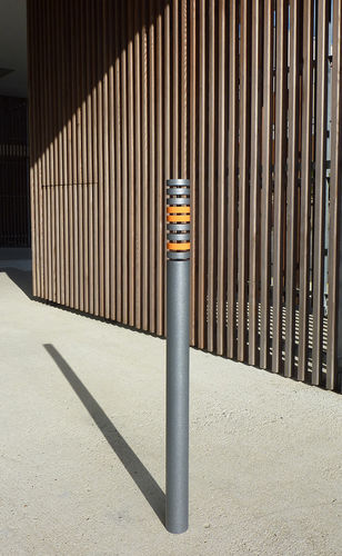 security bollard / stainless steel / steel / removable