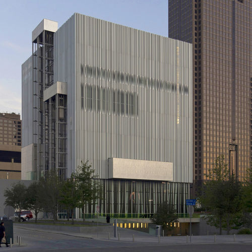 Extruded Aluminum Solar Shading / For Facades / Perforated / Vertical. WYLY  THEATER By REX Architecture U0026 Rem Koolhaus OMA A. Zahner