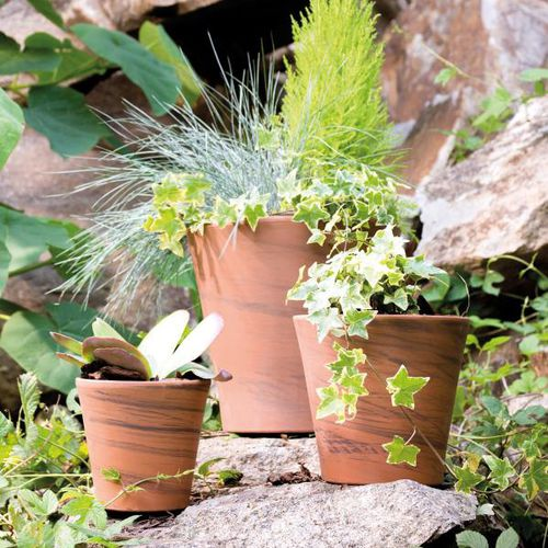 terracotta garden pot / conical / round