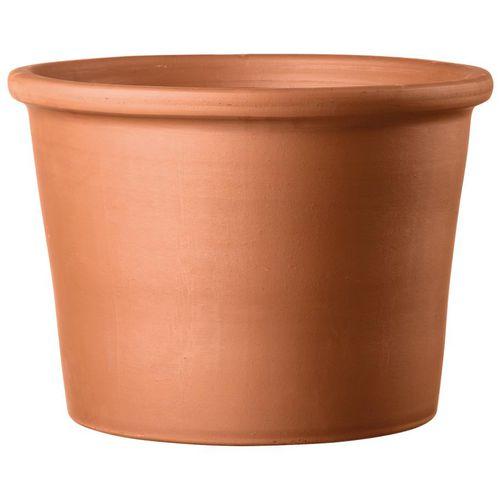 terracotta garden pot / round