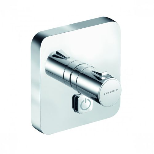 Shower mixer tap / built-in / chromed metal / thermostatic PUSH KLUDI