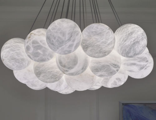 contemporary chandelier / alabaster / commercial