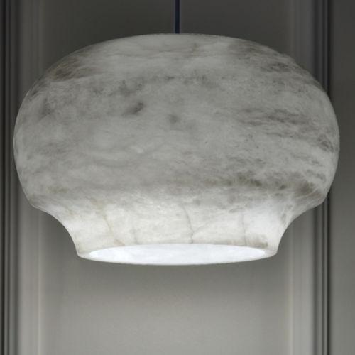 pendant lamp / contemporary / alabaster / white