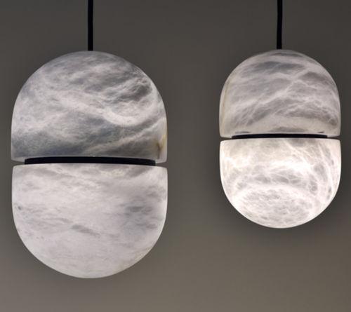 pendant lamp / contemporary / alabaster