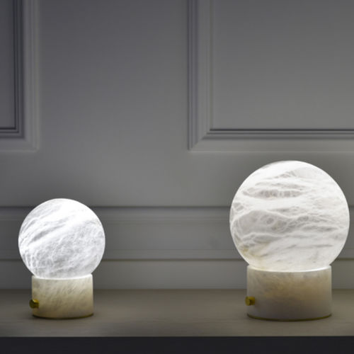 table lamp / contemporary / alabaster