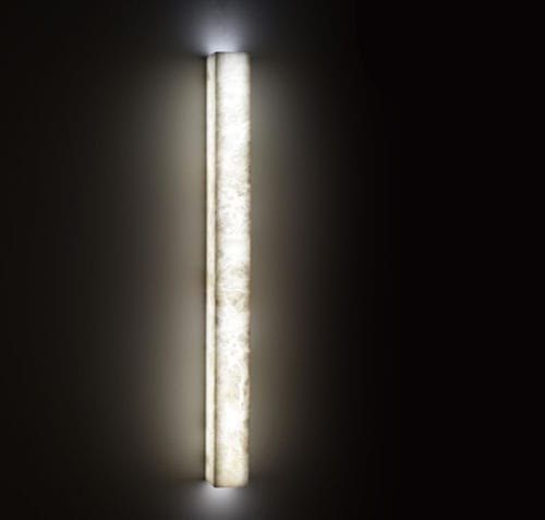 contemporary wall light / alabaster / LED / linear